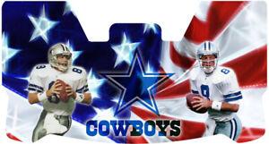 Custom Cowboys Tony Romo Football Helmet Visor, W/ Unbranded Clips