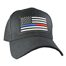 Thin Blue Line Red Line Police Fire Firefighter Law Enforcement Hat Cap