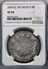 1847GC MP Guadalupe Y Calvo Mexico 8 Reales NGC XF 45