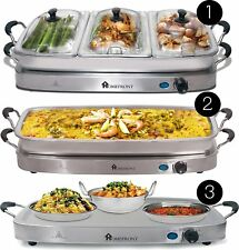 Homefront Pro-Series Buffet Server & Warming Tray 3-in-1 Large 7.5L Capacity 4 3