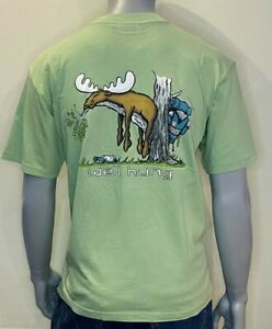 Uber Moose - T-Shirt - Well Hung - Graphic Print - Green