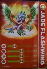 Jade Flashwing Skylanders Giants Stat Card Only!