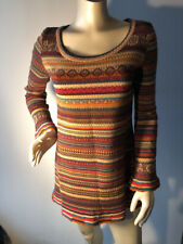 IVKO Womens nordic knit Sweater Tunic Art To Wear Lagenlook  Size 40 L M Bin-X