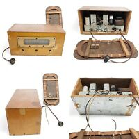 For Repair Or Parts Vintage Tube Radio Unbranded Wooden Deco Tabletop Home Decor