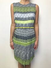 MARCS black white lime print sleeveless dress sz 10