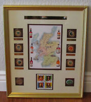 Classic Malts of Scotland Limited Edition Stamp Framed Print Numbered Map Coins