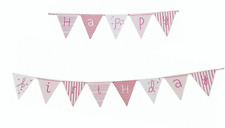 Happy Birthday Bunting x 3m - Pink n mix range Talking Tables