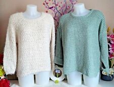 "Lot vêtements occasion femme - Pulls "" Pull & Bear - It Hippie "" - T : 36 / 38"