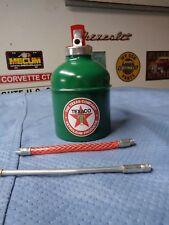 TEXACO Motor OIL CAN Gasoline Station Gas Pump Spout BIG 1 QUART Big Red Star