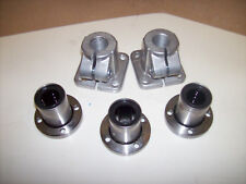 Lot of 3 Samick LMEF20UU Linear Bearing Slide with 2 shaft Clamp support