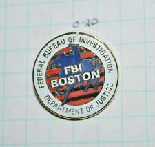 "FBI BOSTON MASSACHUSETTS DIVISION PAUL REVERE POLICE 7/8"" LAPEL PIN"