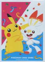 Pokemon center JAPAN Pikachu & Scorbunny Card Deck Shields (64 Sleeves)