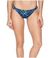 Lucky Brand Shibori Patchwork Reversible Side Strap Hipster Bikini Bottom NWT