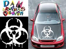 """26"""" biohazard decal vinyl sticker wall car hood door bumper spill drip zombies"""