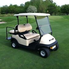 2014 Club car Precedent golf cart 48 volt 48v tan 4 passenger seat lights nice