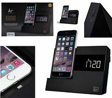 KitSound iPhone 7+/6+/7/6/6S/5S Xdock 3 Clock Radio Dock Altoparlante Stazione di ricarica