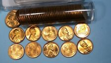 1957-P Wheat Cent Flashy Red Roll Very Nice 18-32