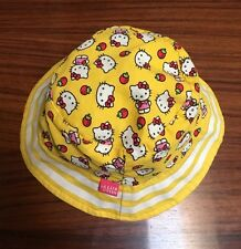 2013 Sanrio Hello Kitty Print White & Yellow Kids Size One Size Fits Most Used