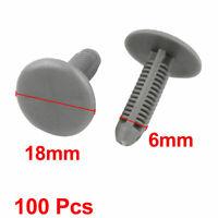 100Pcs 6mm Hole Dia Plastic Rivet Car Door Trim Panel Retainer Clip 253mm Length