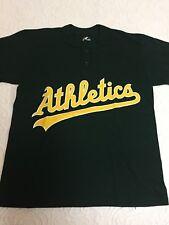 Youth M Green Athletics Majestic Cotton Blend Baseball T-shirt