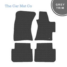 Subaru Outback 2003-2009 Fully Tailored Black Rubber Car Mats With Grey Binding