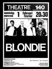 "BLONDIE BELGIUM 16"" x 12"" Photo Repro Concert Poster"