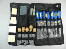 Wood Carving Chisel Set 18 pcs In Cloth Package Pouch Carvers Tools Woodworking