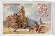 NORTH BRITISH STATION HOTEL, EDINBURGH: Poster type advertising postcard (C14315