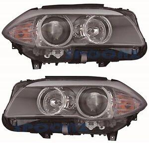 BMW 5 SERIES SEDAN F10 2011-2013 HEADLIGHTS HEAD LIGHTS FRONT LAMPS - PAIR