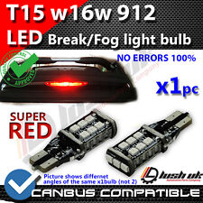 X1pc RED BRAKE & FOG LIGHT UPGRADE T15 15 SMD LED CREE CANBUS BULBS W16W 921