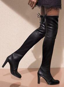 NEW Stuart Weitzman Highland Over the Knee Boot #86679, Black Leather~5M~$875