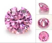 Pink Zircon 6.10ct 10mm Round Faceted Cut Shape AAAAA VVS Loose Gemstone