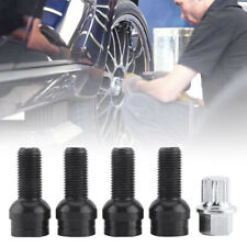 4+1 Set 17mm Black Wheel Bolt & Lock Lug Nut For VW Golf Beetle Passat Audi A01
