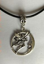 MOON GODDESS FAIRY PAGAN WICCA NECKLACE adjustable leather necklace in gift bag