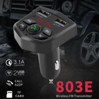 Bluetooth 5.0 FM Transmitter Handsfree Car Kit Adapter Radio Wireless MP3 USB