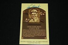 Lou Brock St. Louis Cardinals Signed Yellow HOF Plaque Postcard-NM