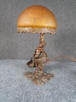 ANTIQUE 1920s AUSTRIAN BRONZE FIGURAL ART DECO LAMP by E.SCHMIDT KESTNER