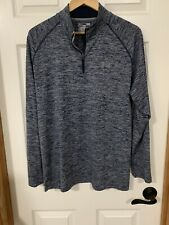 Mens Under Armour HeatGear Loose Fit 1/4 Zip Pullover Shirt Size Large