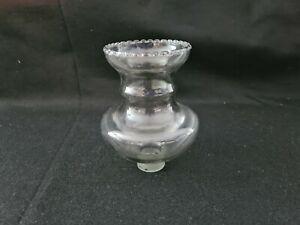 1 Tulipe Ancienne en verre transparent ,art déco , lampe de bureau, année 60
