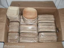 Palm Leaf Square Bowels Plates Disposable Tableware Party Wedding Catering / LOT