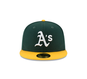 Mens New Era 59Fifty Grn/Yllw MLB Oakland Athletics Authentic Collection On