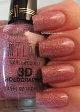 NEW! Milani 3D Holographic Nail Polish lacquer in DIGITAL #513 Pink with silver