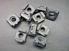 10 pcs Ford 5/16-24 black phosphate low carbon steel cage nuts NOS
