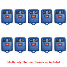 New Remote Control Fob Case Shell 3B Fit For Ford Rubber Pad Dark Blue (10 Pack)