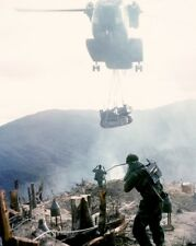 CH-53 Sea Stallion Helicopter airlifts a Bulldozer 8x10 Vietnam War Photo 296