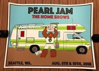 PEARL JAM - Kevin Shuss RV  POSTER Safeco Seattle 2018 IN HAND home away shows