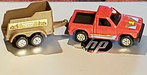 RARE Vintage 1/43 Tootsie Toy Chevy S-10 Pickup with Horse Trailer