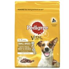 Pedigree Real Beef With Vegies Small Breed Dry Dog Food 2.5kg