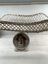 Vintage Nursery Baby Scale with Wicker Basket