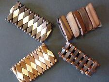 4 Bracelets Bois Ethniques Lot  TBE